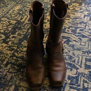 Genuine Frye Harness boots.